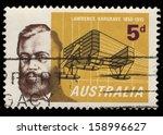 australia   circa 1965  a stamp ... | Shutterstock . vector #158996627