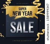 new year sale banner vector... | Shutterstock .eps vector #1589999347