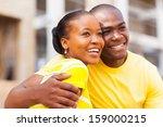 happy young african american... | Shutterstock . vector #159000215