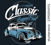 classic super fast ... | Shutterstock .eps vector #1590006931