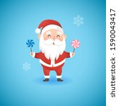 christmas funny santa claus... | Shutterstock .eps vector #1590043417