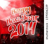happy new year 2014 triangle... | Shutterstock .eps vector #159006239