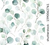 Seamless Watercolor Floral...