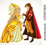 prince and princess in love | Shutterstock .eps vector #159007805