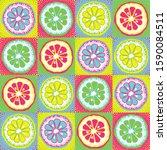 vector pattern with citrus ... | Shutterstock .eps vector #1590084511