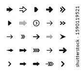 set of black arrows. collection ... | Shutterstock .eps vector #1590119521