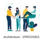 vector business illustration ... | Shutterstock .eps vector #1590131821