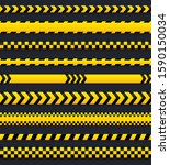 abstract caution tape  yellow... | Shutterstock .eps vector #1590150034