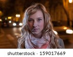 face of the women outdoor at... | Shutterstock . vector #159017669