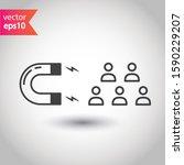 customer attracting vector icon.... | Shutterstock .eps vector #1590229207