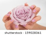 Hands With Pastel Lilac...