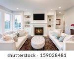 beautiful living room in luxury ... | Shutterstock . vector #159028481