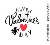 happy valentine's day... | Shutterstock .eps vector #1590291454