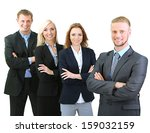 group of business people... | Shutterstock . vector #159032159