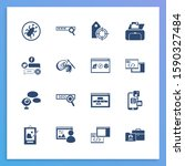development icon set and print...