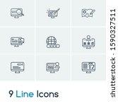web design icon set and website ...