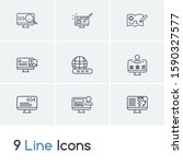 website icon set and website...