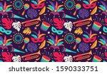 brazilian carnival  music... | Shutterstock .eps vector #1590333751