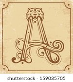 illustration of initial a on a... | Shutterstock .eps vector #159035705
