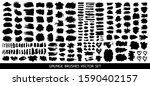 set of black paint  ink brush...   Shutterstock .eps vector #1590402157
