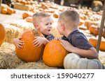 Two Boys At The Pumpkin Patch...