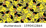 duck seamless pattern vector... | Shutterstock .eps vector #1590412864