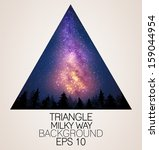 Milky Way Triangle Background ...