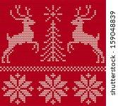 christmas ornament. sweater... | Shutterstock .eps vector #159048839