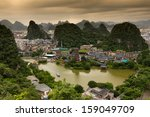 Lookout Over Guilin City In...