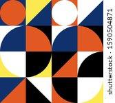 bauhaus vector seamless pattern.... | Shutterstock .eps vector #1590504871