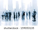 lobby in the rush hour is made... | Shutterstock . vector #159053135