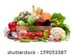 fresh vegetables  fruit and... | Shutterstock . vector #159053387