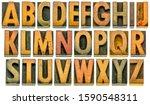 English Alphabet In Wood Type   ...