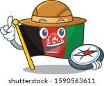 flag afghanistan scroll a... | Shutterstock .eps vector #1590563611