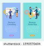 strategic partnership  business ... | Shutterstock .eps vector #1590570604