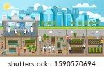scientists growing plants in... | Shutterstock .eps vector #1590570694