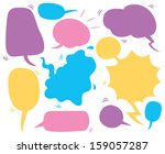 comic speech bubble | Shutterstock .eps vector #159057287