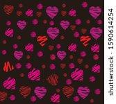 love heart symbol pattern in... | Shutterstock .eps vector #1590614254