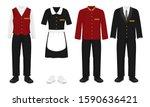 hotel staff uniform set  vector ...   Shutterstock .eps vector #1590636421