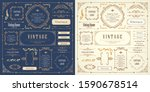 vintage style beautiful vector... | Shutterstock .eps vector #1590678514