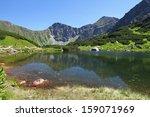 slovakia mountain lake  ... | Shutterstock . vector #159071969