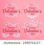 valentine's day badge vector...