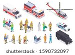 emergency service isometric set ...   Shutterstock .eps vector #1590732097