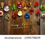 christmas card | Shutterstock .eps vector #159078839