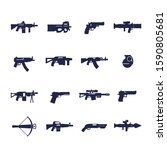 guns and weapons icons  rifles  ...