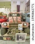 Small photo of Doha, Qatar - October 1st 2019 - encompassing an area of 530,000 m², the Sheikh Faisal Bin Qassim Al Thani Museum presents the most complete collection of Qatar. Here in particular its classic cars