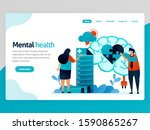 mental health illustration.... | Shutterstock .eps vector #1590865267