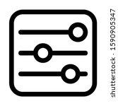 slider control icon isolated...