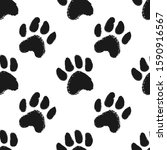 seamless pattern with animal...   Shutterstock .eps vector #1590916567