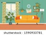 furniture  sofa  bookcase ...   Shutterstock .eps vector #1590933781